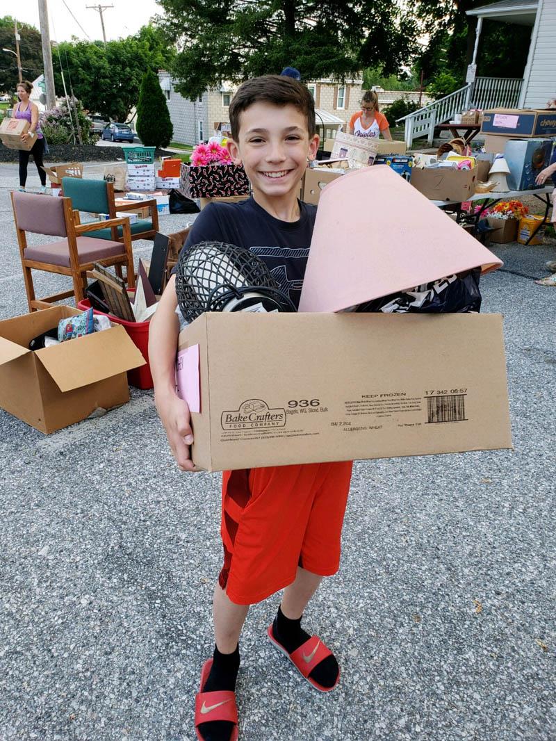 Young Yard Sale Volunteer