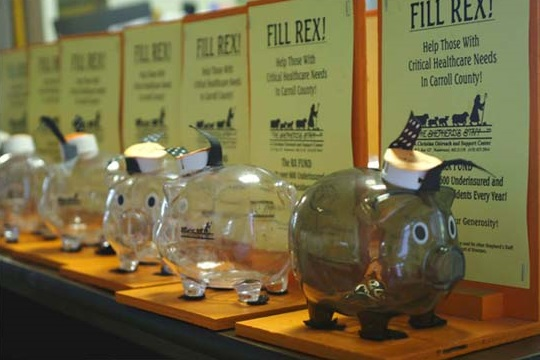 Rex the Piggy Bank helps provide critical medication for those who can't afford them