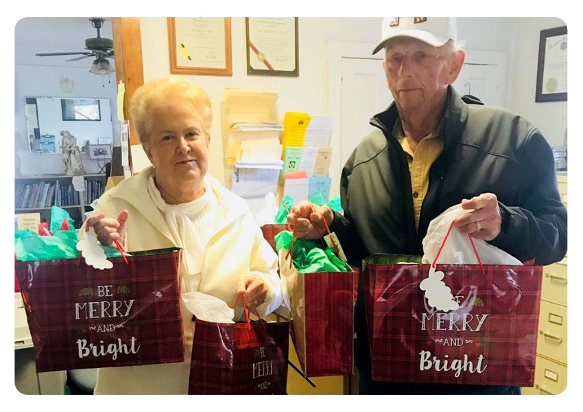 Christmas Sacks bring joy and happioness for Seniors in Carroll County
